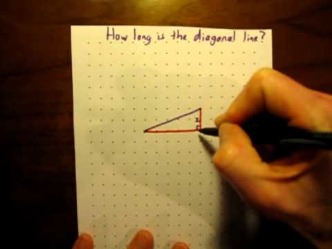 how to find the length of a diagonal line