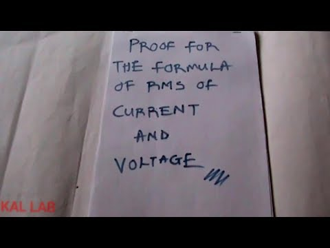 Proof Of The Formula of RMS of Voltage and Current