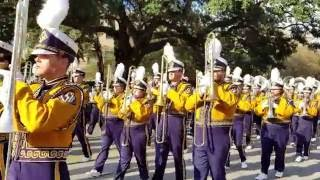LSU Tiger Band March down Victory Hill - October 15, 2016