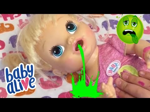 Baby alive ALL GONE is REALLY SICK and has the stomach flu baby alive videos
