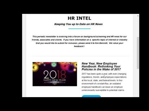 HR Intel - A digest of Intelligence Information for the HR