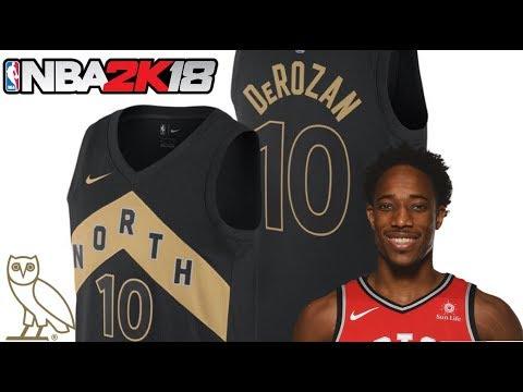 2b277c00a8b0 NBA 2K18 Toronto Raptors Nike City Jerseys - YouTube