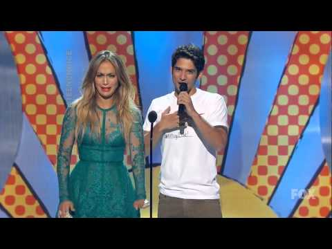 Jennifer Lopez surprised by Tyler Posey at TCAs 2014