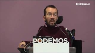 """Echenique: El PP ve en Errejón """"un rival que les puede arrebatar Madrid"""""""