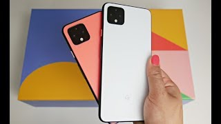 GOOGLE PIXEL 4 / 4XL | UNBOXING & REVIEW | CAMERA TEST | Clearly White | Oh So Orange