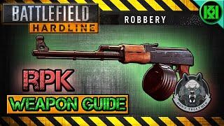 battlefield hardline rpk review gameplay best gun setup   weapon guide bfh
