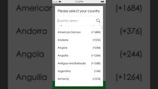 All country mobile code