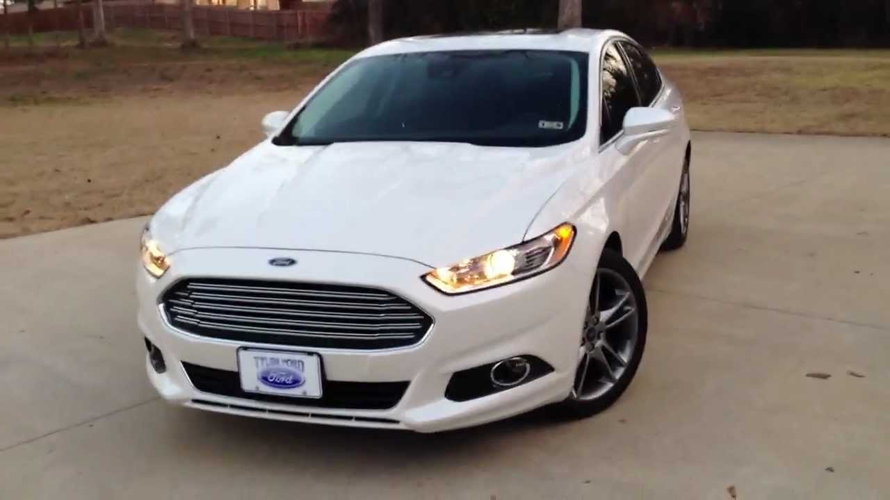 2013 Ford Fusion Titanium Interior Exterior Tour Youtube