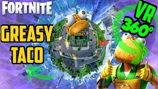 GREASY GROVE is BACK! | 360° TACO DANCE TIME | Guaco Skin | Fortnite map change event season 10 VR