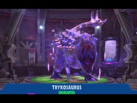 Jurassic World Alive #65 Trykosaurus, Erlidominus Leveln & Komische Kämpfe? [Ger/HD] | Marcel