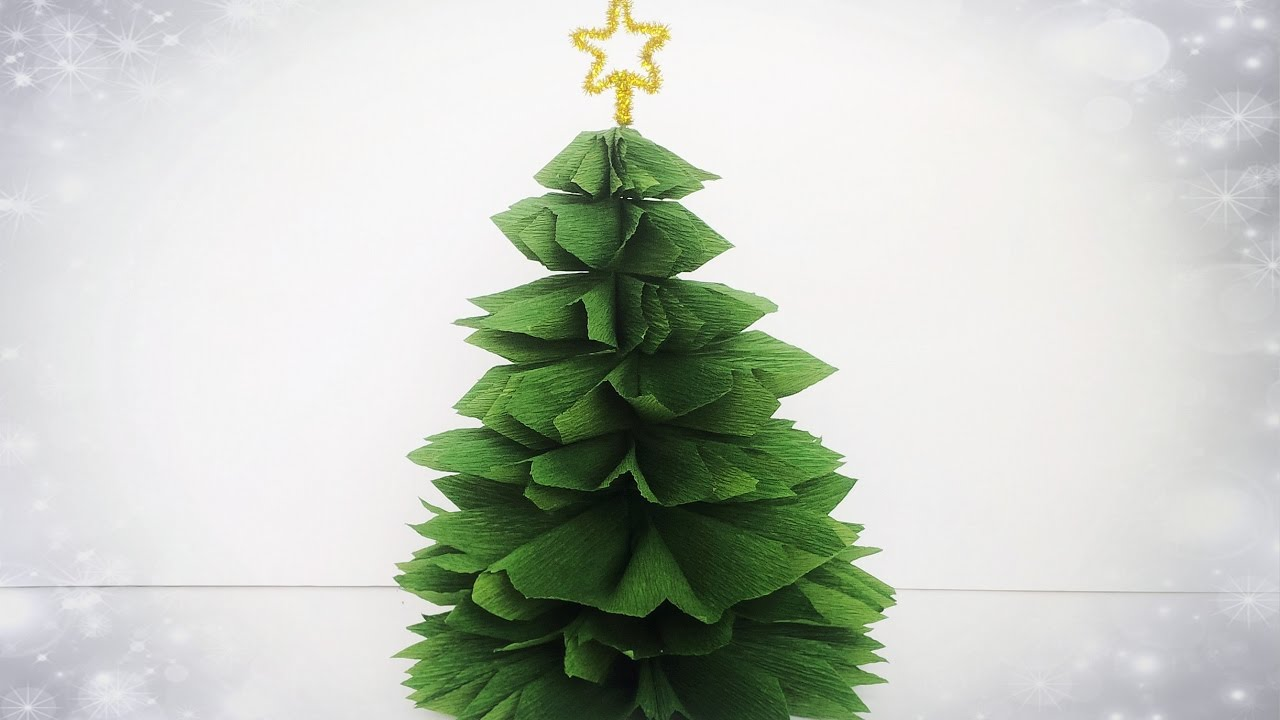 How To Make Christmas Tree From Crepe Paper Easy