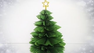 ABC TV | How To Make Christmas Tree From Crepe Paper - Easy Tutorial