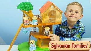 Сильваниан Фэмилис семья Лабродоров и домик на дереве - Игрушки для детей Sylvanian Families Toys