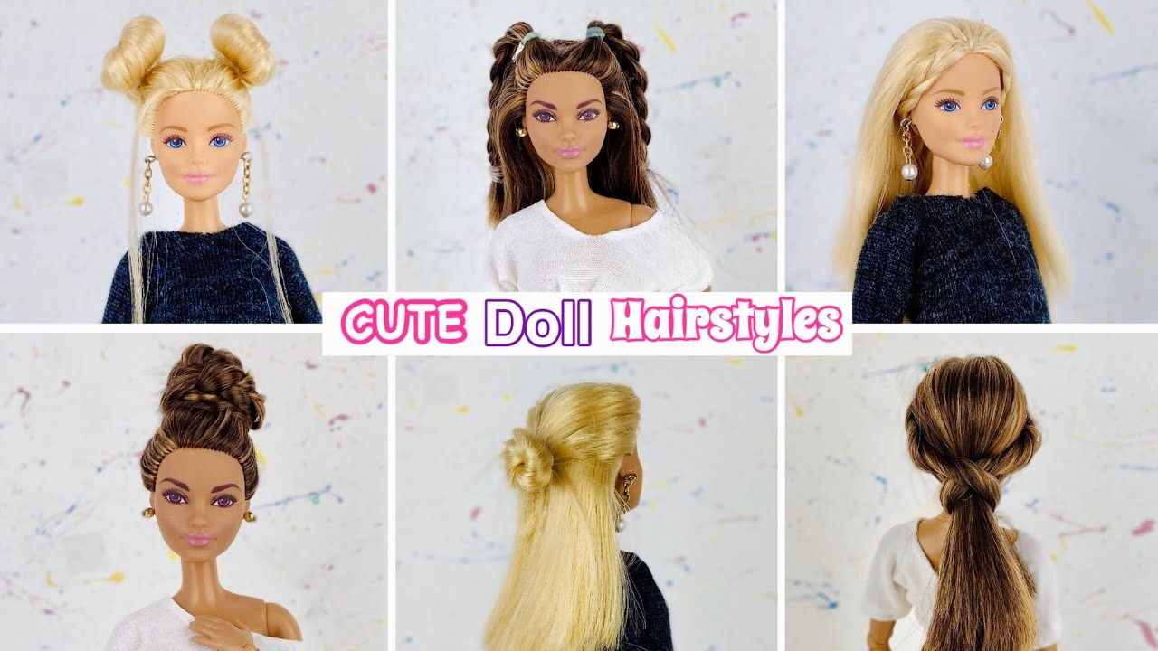 12 CUTE Barbie Hairstyles!! #12💕