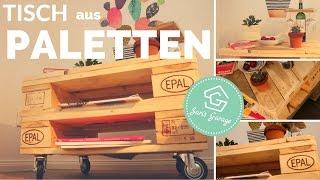 Tisch aus Europaletten DIY - Palettentisch - Coffee Table - Paletten - Anleitung
