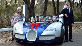 als erstes Auto direkt einen Bugatti