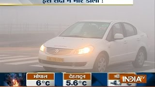 Dal Lake Freezes and Delhi Shivers As Cold Wave Tightens its Grip Over North India - India TV