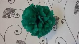 DIY Pom-Pom paper Tutorial  |  Gör Det Själv: Pappers Pom-Pom
