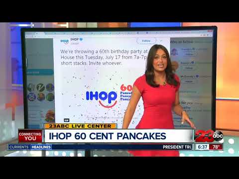 IHOP'S Birthday with 60 cent p ihop 60 cent pancakes