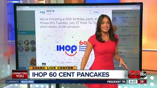 IHOP'S Birthday with 60 cent pancakes