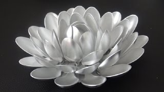 DIY: Recycled Plastic Spoon Lotus Flower by {MadeByFate} #37