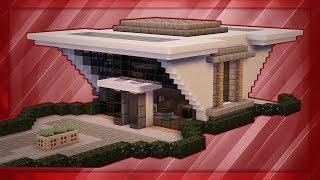 Minecraft: How To Build A Modern Mansion Tutorial (#8)