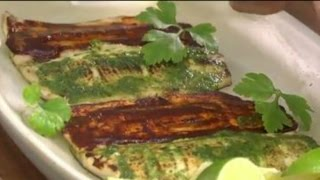 Grilled Whole Fish with Red and Green Chile Adobo