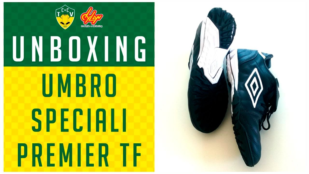 5342af3d75 CHUTEIRA UMBRO SPECIALI PREMIER TF (SOCIETY) - UNBOXING - YouTube