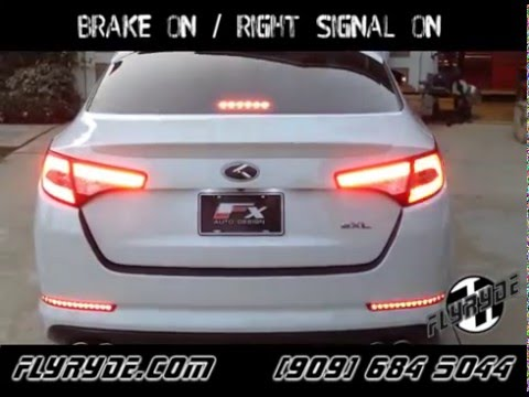 kia optima led tail light signal module youtube