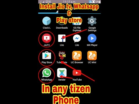 How to install Playstore JioTv & whatsapp in tizen phones 100% working  tricks हिन्दी में। DAMNTOOGEN