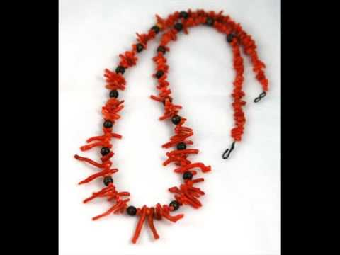 Antique And Vintage Coral Jewelry Sets For Women