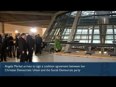Germany: Angela Merkel signs coalition agreement with Social Democrats
