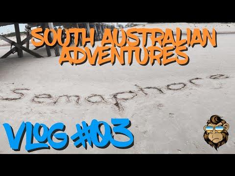 Vlog 3 - Aussie Adventures - Henley & Semaphore Beach, Fringe Garden, Rundle Mall