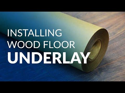 Installing wood floor underlay