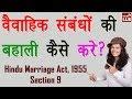 Download पति या पत्नी के छोड़कर चले जाने पर क्या करे? | HMA Section 9 By Ishan Sid