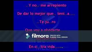Aunque Sea En Otra Vida- Edit Marquez; Karaoke (Tono Bajo)