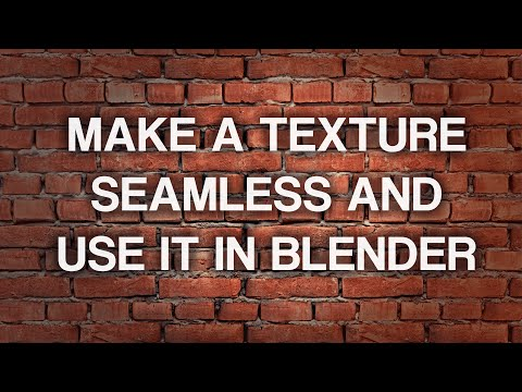 Make a Texture Seamless and use it in Blender