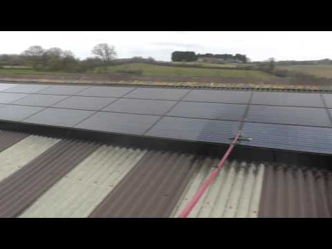 Rooftop Solar Panel Cleaning On A Farm in Gloucestershire, UK - Clean Solar Solutions