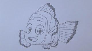 Como desenhar o Nemo de Procurando Nemo