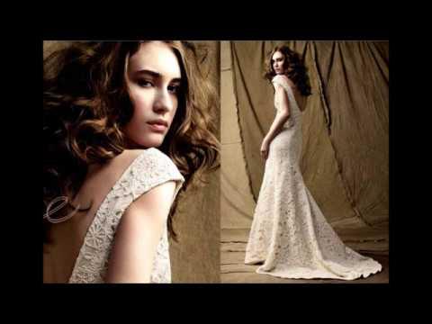 Вязанное крючком свадебное платье