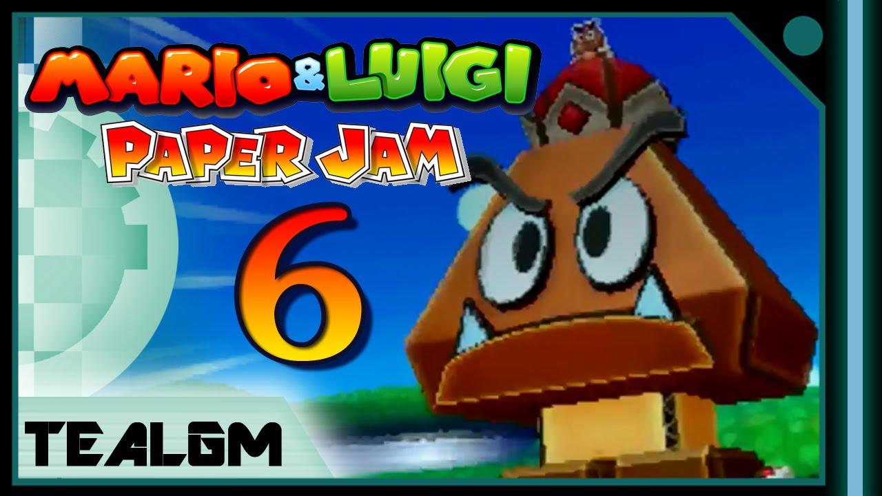 Papercraft Mario & Luigi: Paper Jam Bros. - Part 6: Papercraft Megacrinkle Goomba Boss!