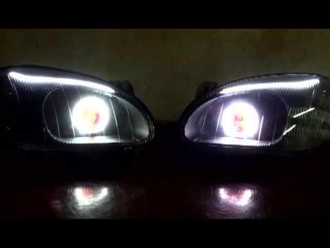 DAEWOO LANOS HEADLIGHTS #2 - YouTube
