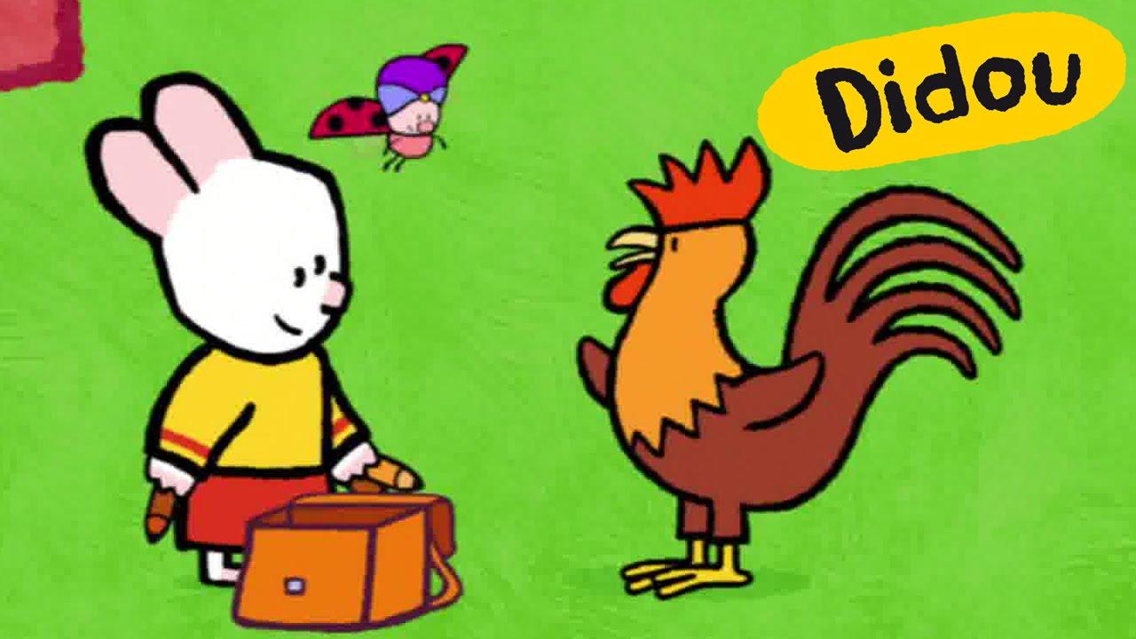Coq didou dessine moi un coq dessins anim s pour les - Coq a dessiner ...