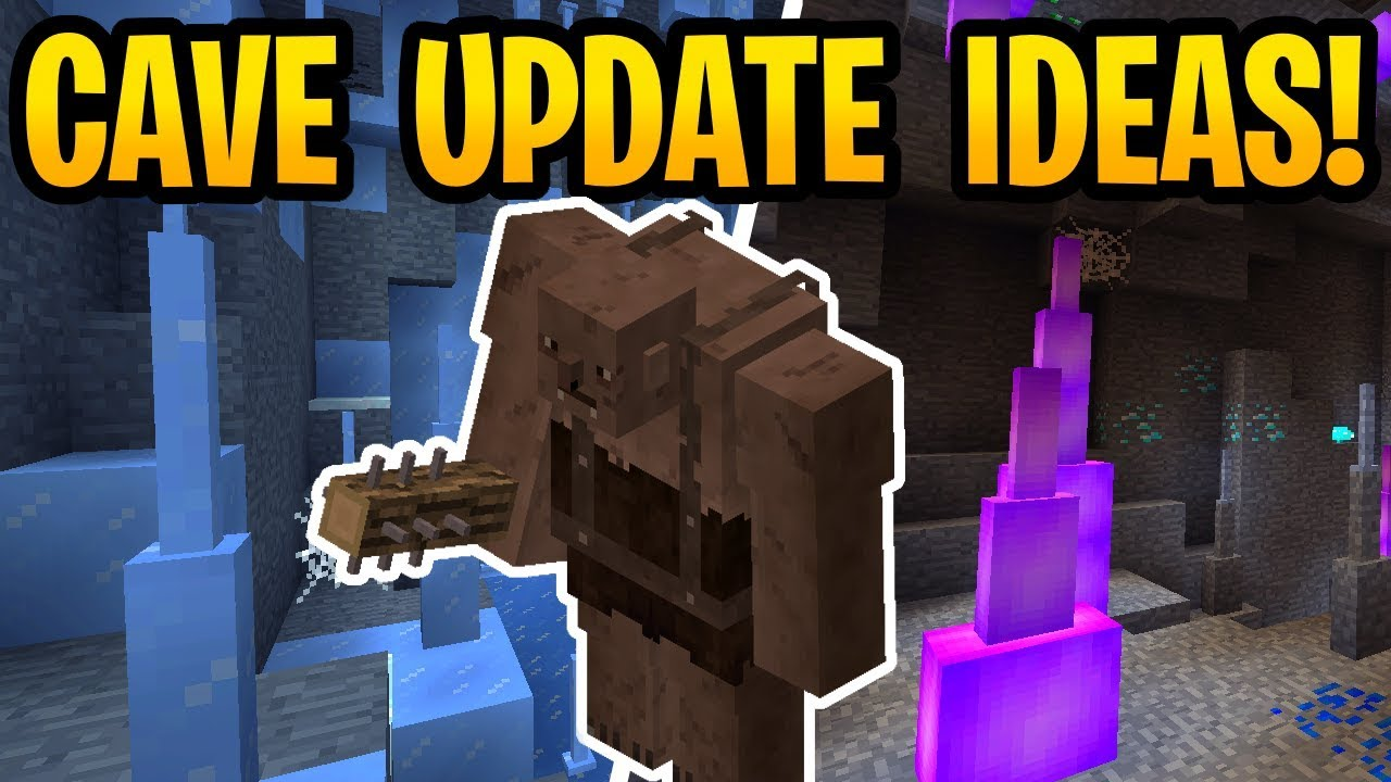 Minecraft 12.125 Cave Update Ideas? Cave Trolls, Crystals & New Ores PE,  Xbox, Switch, Java