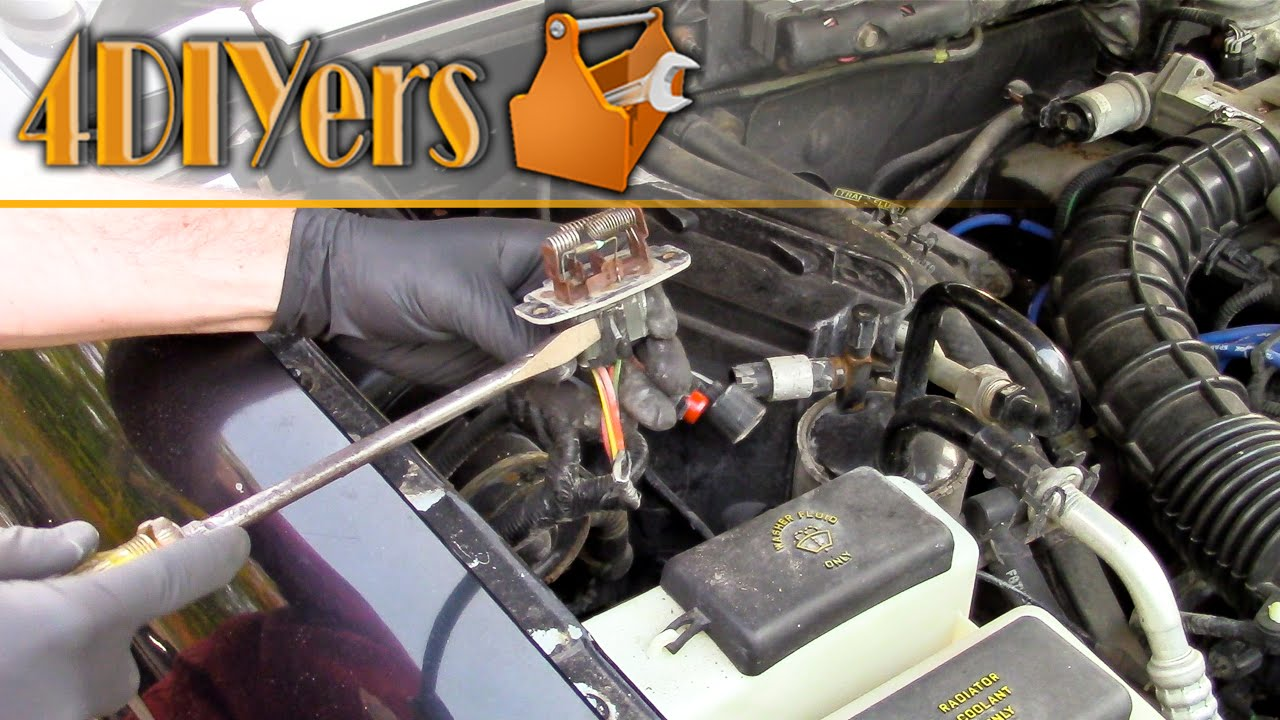 diy ford ranger blower motor resistor replacement youtube
