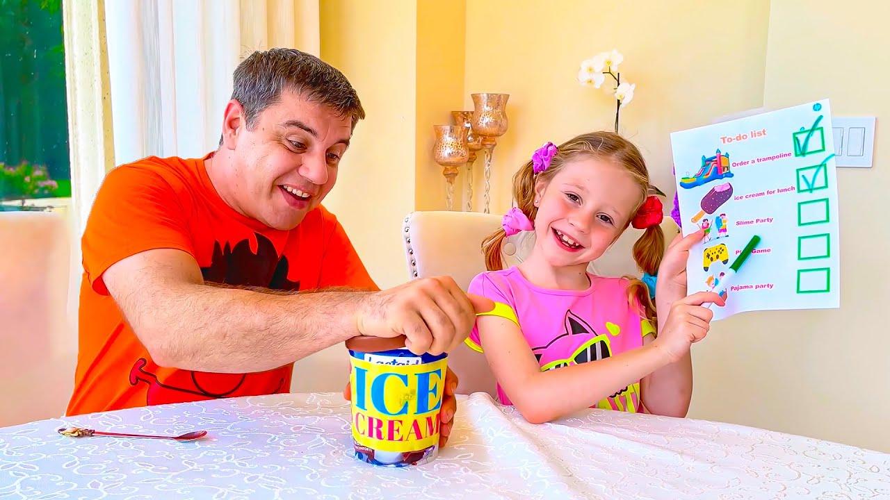 ¡Nastya cambió la lista de tareas pendientes del día! Un día lleno de diversión con Nastya