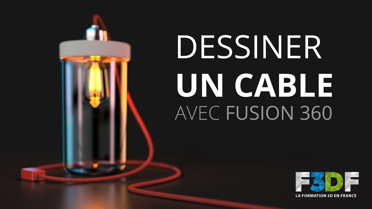 maxresdefault dessiner un cable avec fusion 360 youtube fusion 360 wiring harness at arjmand.co