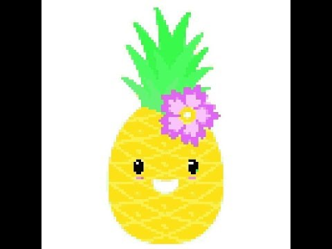 Pixel Art Color Baby Learn How To Draw Pixel Cartoon Pineapple