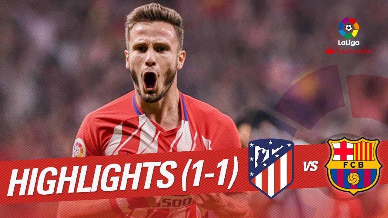 Resumen De Atlético De Madrid Vs Fc Barcelona 1 1 Youtube