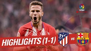 Resumen de Atltico de Madrid vs FC Barcelona 1-1